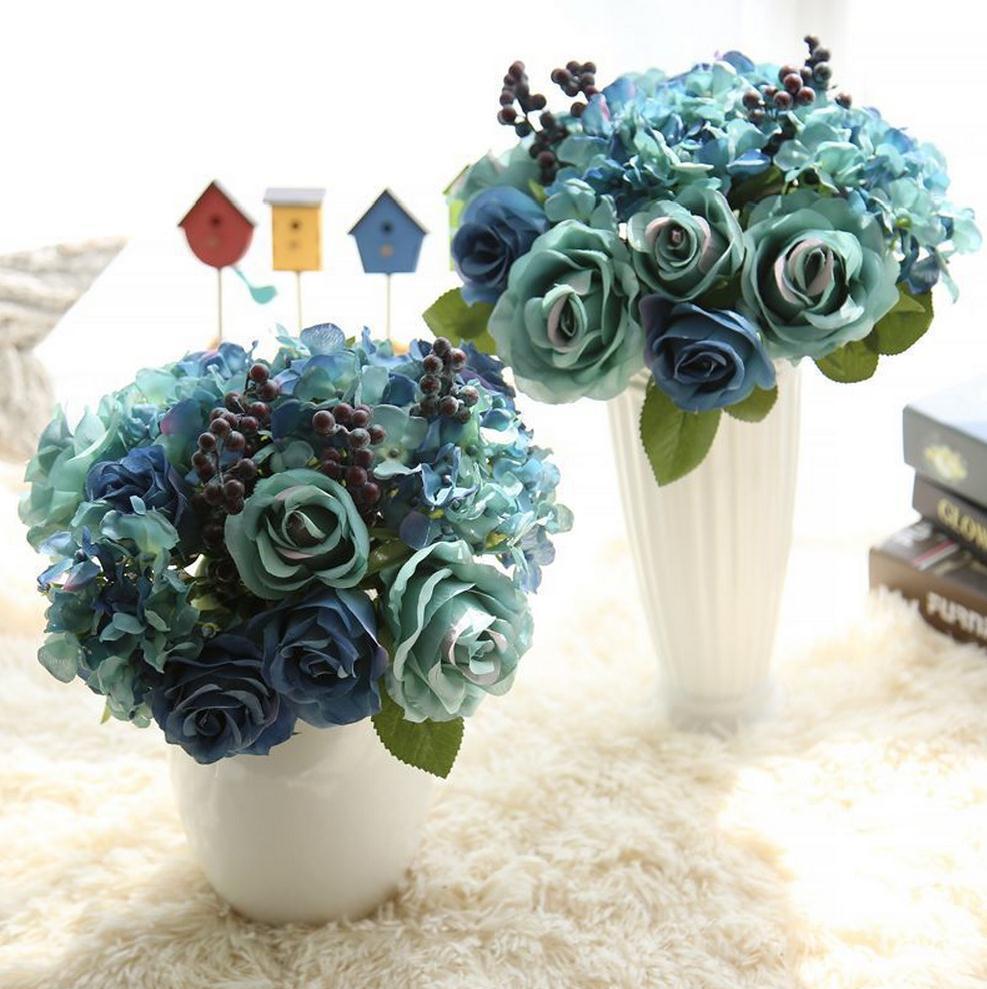 The Rose Flower Decoration Crafts Plant Simulation Silk Flower