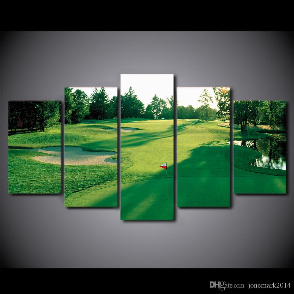 Beautiful Online Cheap Canvas Art Hd Printed Golf Course Green Land Wall Canvas  Pictures For Living Room Bedroom Modular Home Decor By Jonemark2014 |  Dhgate.Com