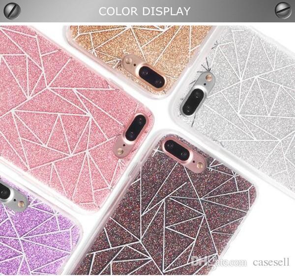 Yeni Moda Glitter Toz Kılıf iphone 6 7 7 Artı Bling Sparkling Lüks Silikon Yumuşak Kılıf Kapak Için iPhone7 Artı