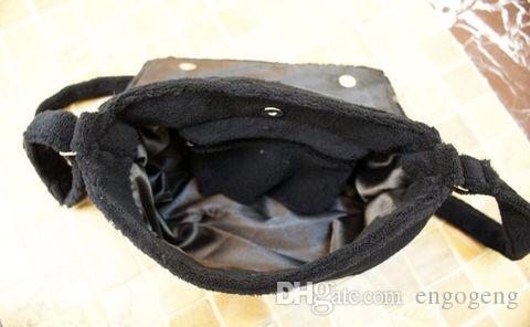 Bolso negro del maquillaje de la manera del terciopelo del hombro logotipo famoso bolso de lujo del partido del bolso del bolso de la franela de la buena calidad