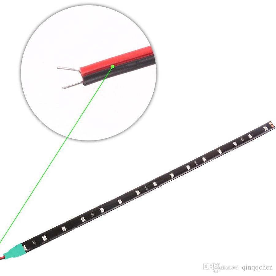 방수 자동차 자동 장식 유연한 LED 스트립 높은 전원 12V 30cm 15smd 자동차 LED 낮 실행 빛 자동차 LED 스트립 라이트 DRL