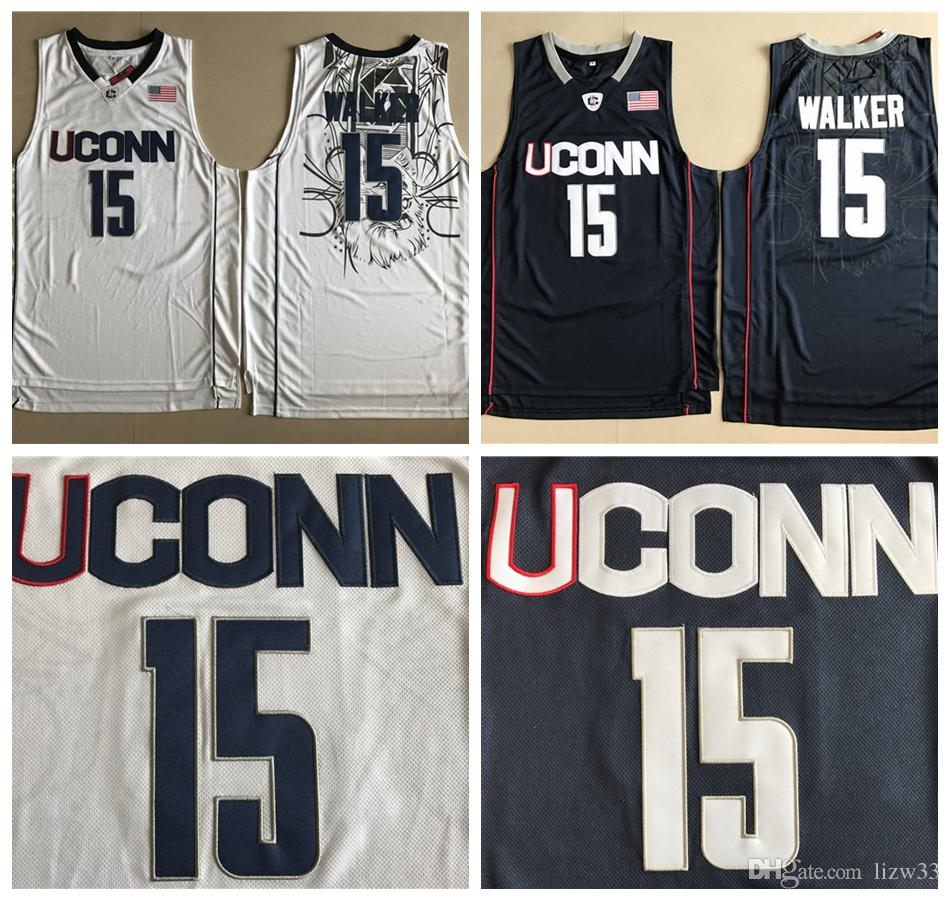 b634fdc64213 ... basketball  online cheap ncaa uconn huskies college jerseys mens 15  kemba walker jersey white navy black all