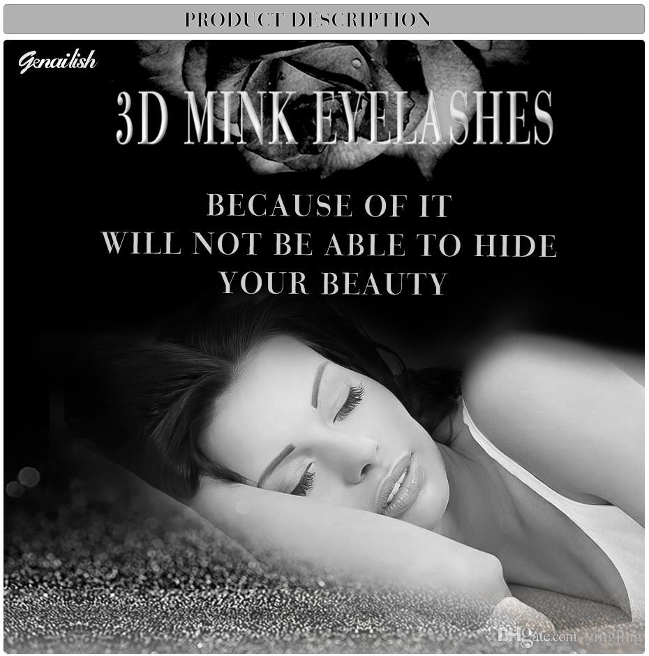 Fein 1 Paar 3D Nerz Falsche Wimpern Handgemachte Natürliche WimpernNerz Dicke Falsche Wimpern Extension Beauty Make-up Tools