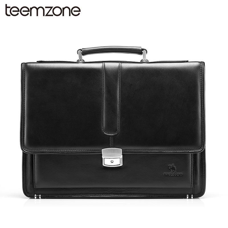 18053a57436a Wholesale- Hot Men s Genuine Leather Vintage Frmal Business Lawyer  Briefcase Messenger Shoulder Attache Portfolio Tote T8880 Portfolio  Portfolio Decoration ...