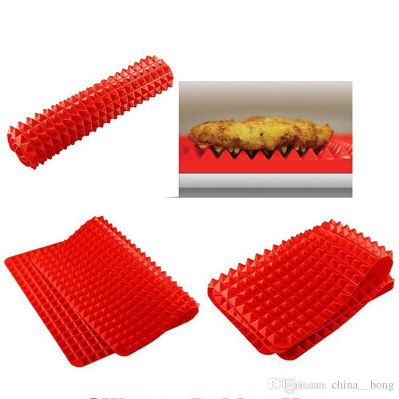 Nuova piramide Bakeware Pan 40.5 * 29 cm Nonstick Silicone in silicone Tappetini Tappetini Pads Stampi da cucina Forno Forno Forno teglia foglio del vassoio DHL / FedEx