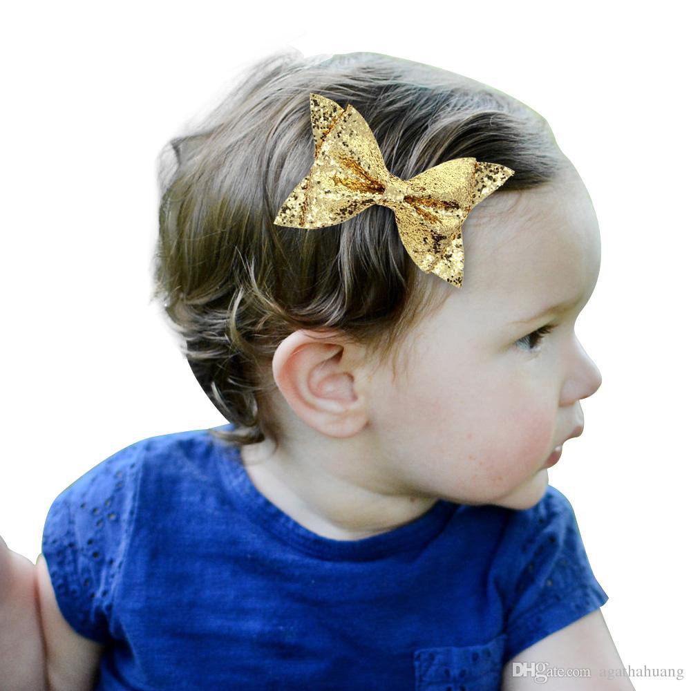 1e3d5d370fe2 Children Hair Accessories Sequin Bow Barrettes Baby Hair Accessories ...