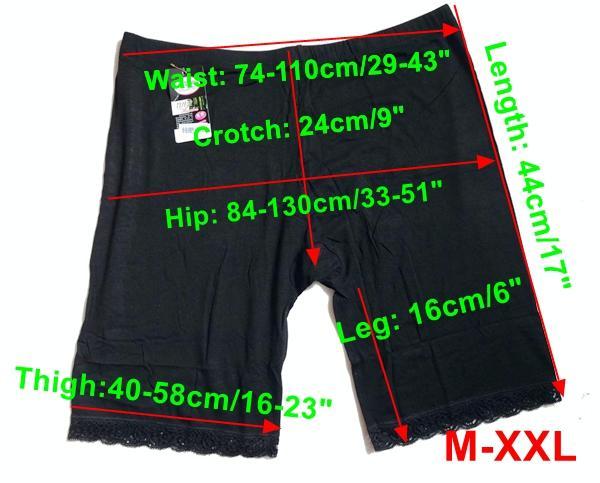M-XXL PLUS Europäische Größe Qualität Modal Elastic Stretch Kurze Hose Legging Unterhose Sicherheit Shorts Unterwäsche Höschen Strumpfhosen Joggings Solide