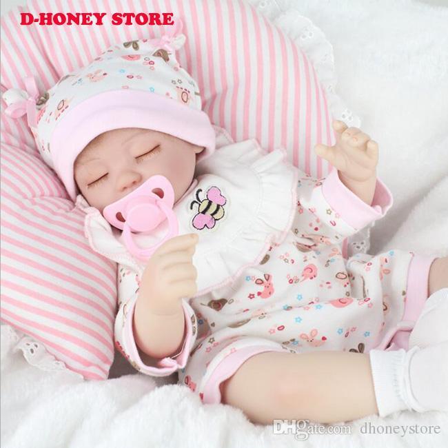 45cm Soft Silicone Doll Reborn Baby Toy For Girls Newborn
