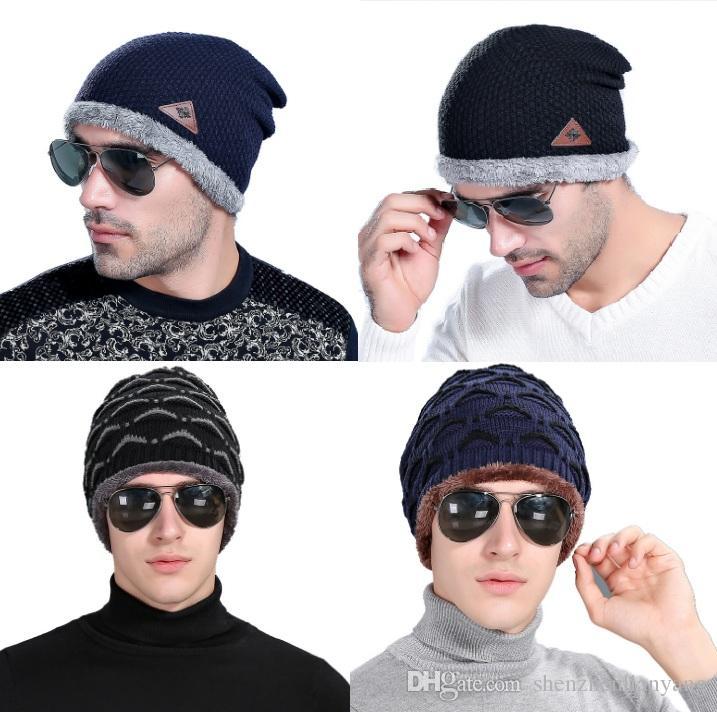 Compre Sombrero Caliente De Los Hombres De La Gorrita Tejida De Los ...