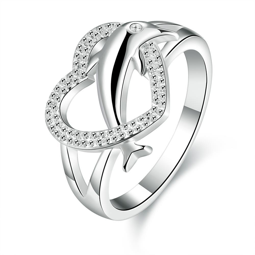 New Design Dolphin And Heart Ring European Fashion R708 8 Popular Wholesale  Silver Plated Ring For Girl High Quality Size 7 8 Affordable Engagement  Rings ...