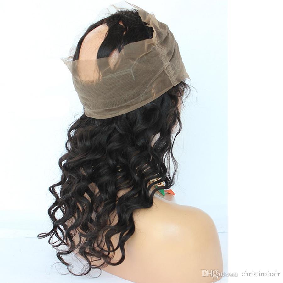 Pre Gezupft 360 Spitze Frontal Mit 3 Bundles Brasilianisches Reines Haar Verworrene Lockige 360 Spitze Frontal Schließung Mit Bundles Menschenhaar