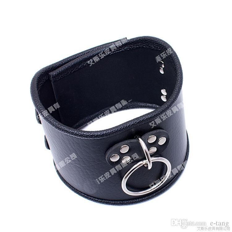 2017 6cm Height BDSM Sm Sex Toys Luxury Stainless Steel Heavy Duty Collar & Leather Thick Lron Locking Collar Mirror Polished Neck Ring