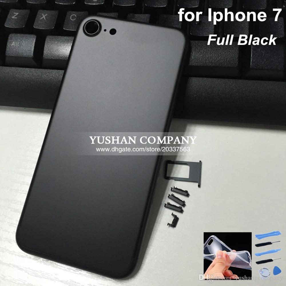 iphone 7 black and gold. 2017 new housing for iphone 7 black gold metal frame plus jet full with logo button from yushangcompany, $38.72 | dhgate. and c