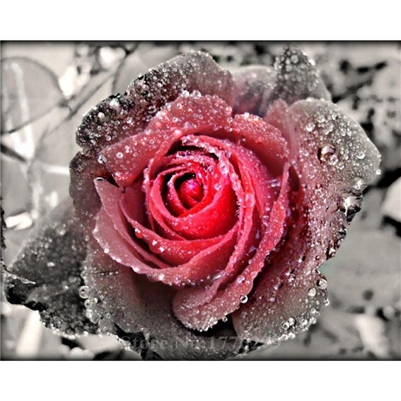 Satın Al Yeni 5d Diy Elmas Boyama çiçek çapraz Dikiş Kare Elmas