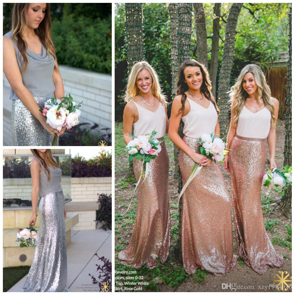 1ddfcd54520d Sparkle Sequins Fashion Bridesmaid Skirts Custom Made Sheath Floor Length Shiny  Party Skirts New Arrival Streetsyle Pretty Women Skirts Girl Bridesmaid ...