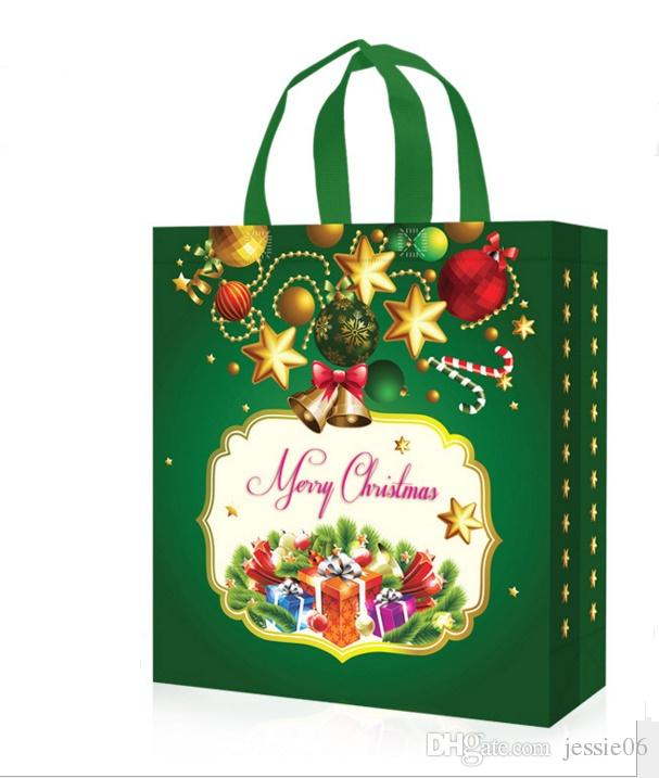 non woven holiday gift bags reusable christmas gift handbag holders tote xmas party favor bag present wrap large festive supplies christmas gift wrap rolls