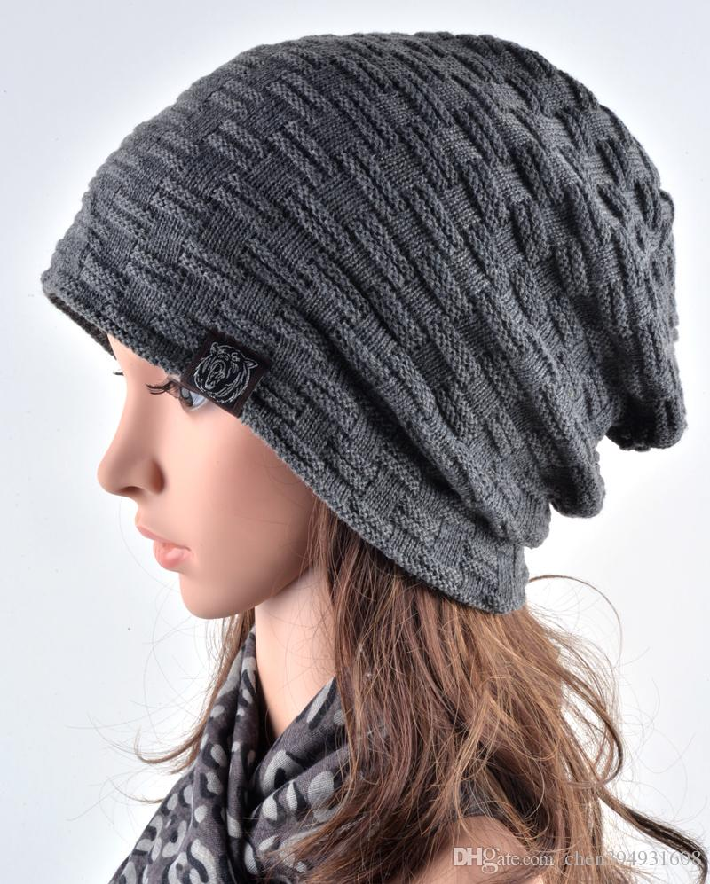 94954c8b75e 2019 Brand Male Female Autumn And Winter Hats Worn Bonnet Thick Warm Cap  Knitted Caps Men And Women Outdoor Ski Beanie Hat Hedging From  Chen394931608