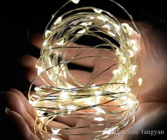 5M 50LEDs 3AA Battery Operated Led String Mini LED Copper Wire String Fairy Light Christmas Xmas Home Party Decoration Light Warm/Pure White