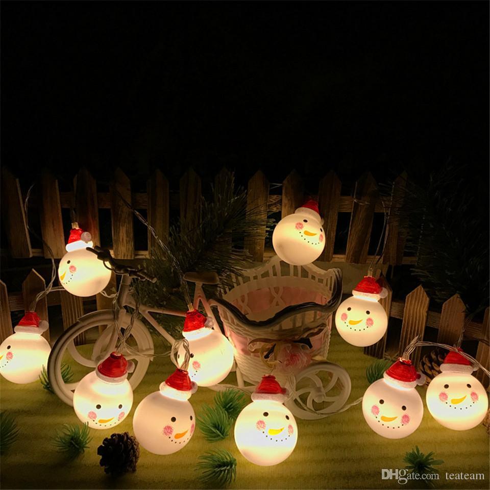 Snowmen Christmas Lights Outdoor Battery Type Decoration Lighting ...