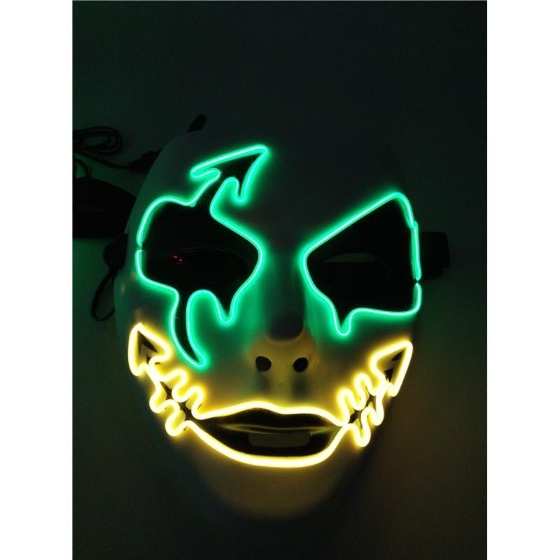led flashing skull mask halloween party el wire masks light up neon concert scary party theme political horror cosplay fire carnival asks masquerade ball