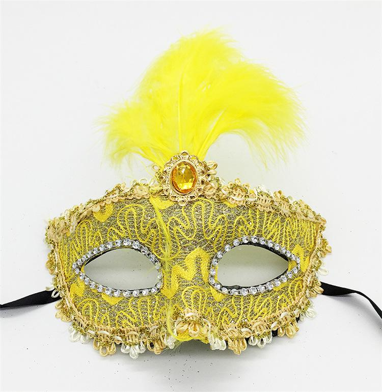 Wholesale 2017 Hot Sale Halloween Dancing Party Peacock Feather Mask Dance Sexy Ball Lace Mask Catwoman Masquerade Dancing Party Eye Mask