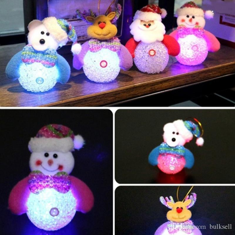 LED Gece Işığı Masası Bebek Yılbaşı Ağacı Süslemeleri Kolye Dekor Masa Aydınlık Lamba Nightlight Çocuk Yeni Yıl Hediyeleri Için