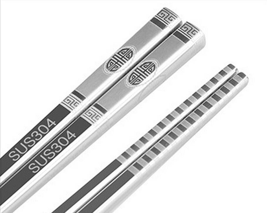 SUS304 18/10 الفولاذ المقاوم للصدأ عيدان عيدان قابلة لإعادة الاستخدام