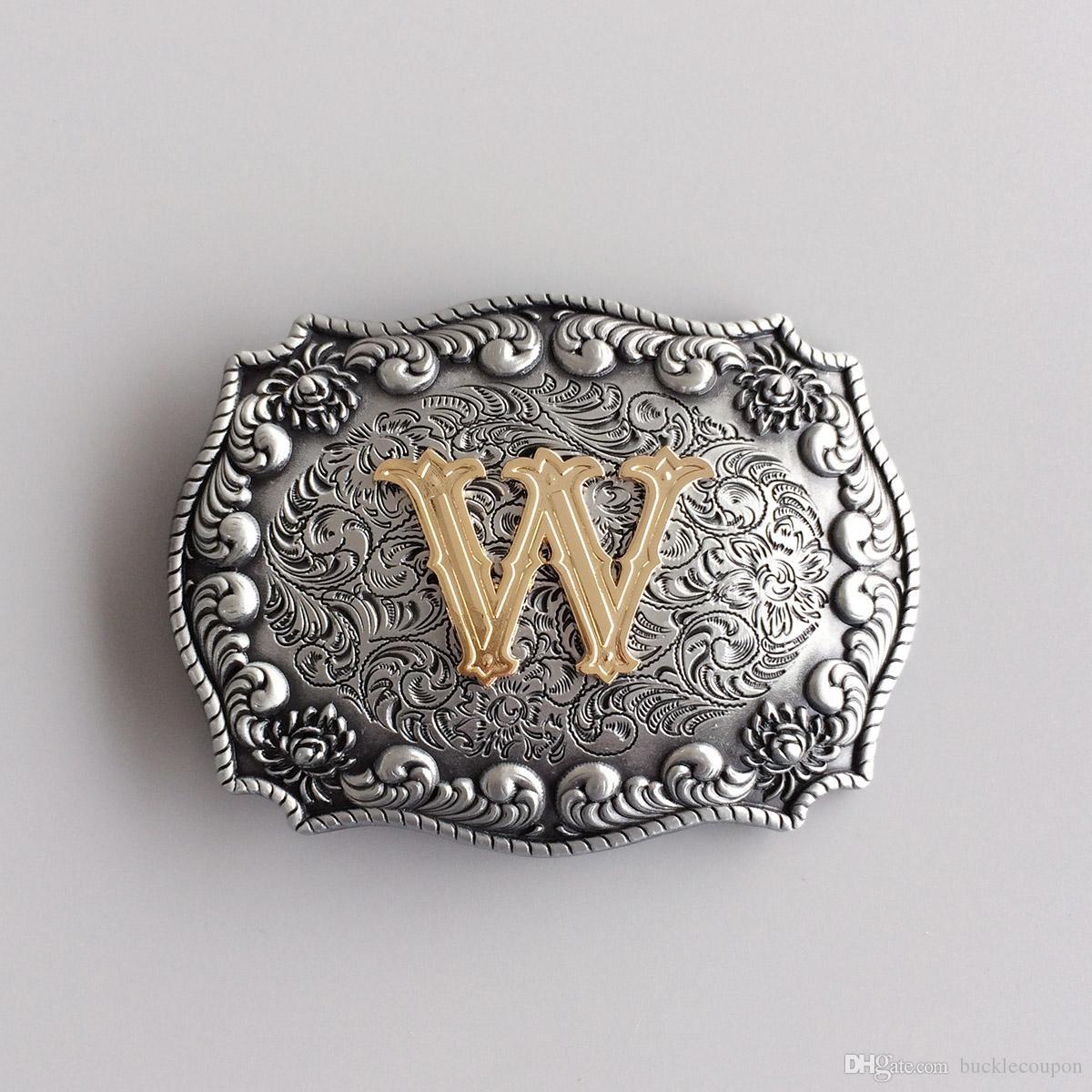Anfangsbuchstaben M R S T W Western Rodeo Cowboy Big Size Gürtelschnalle Gurtelschnalle Boucle de ceinture SCHNALLE-LE010 Brand New