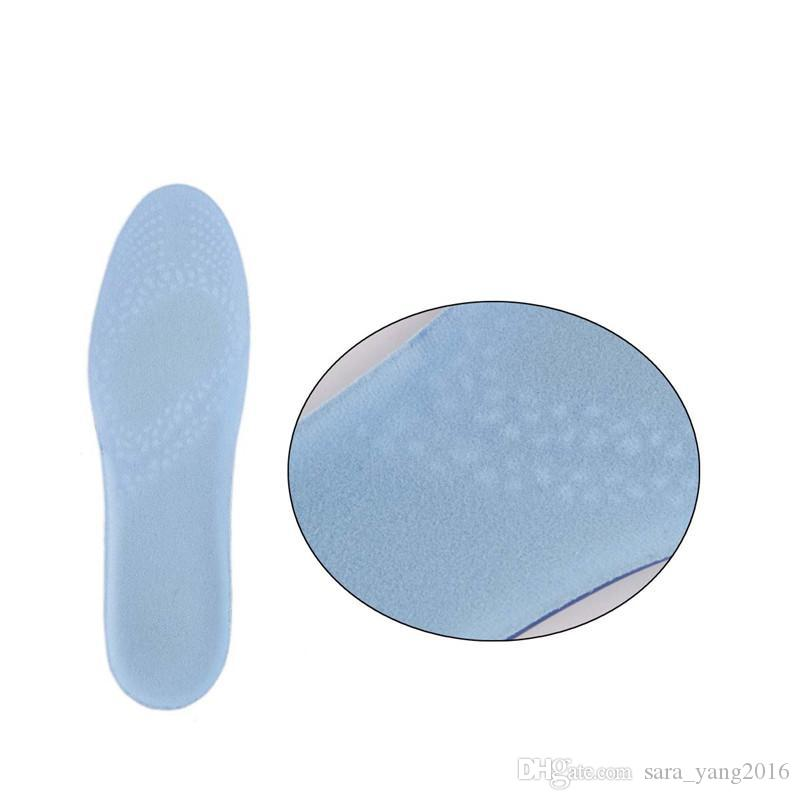 Silicone Gel Active Insoles Basketball Stable Heel Cushioning Anti-friction Memory Insole Relieve Foot Pain for Men Woman wa3567