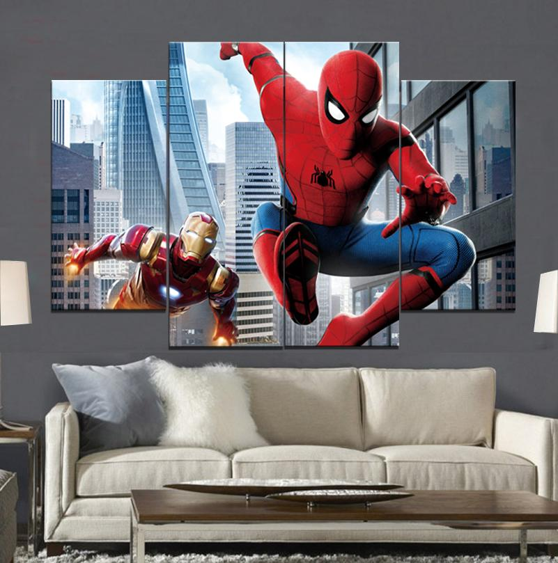 Spider Man Homecoming Iron Man 2 Frameless Paintings No Frame ...