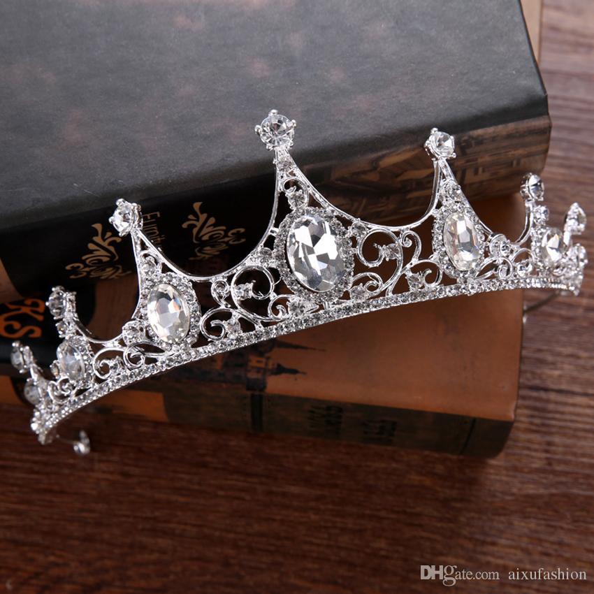 Nuevo 2017 Wedding Hair Jewelry Costly Crystal Diamond Crown Tiara Princesa Novia Vestido de Novia Accesorios para el Cabello Diadema Nupcial Tocados