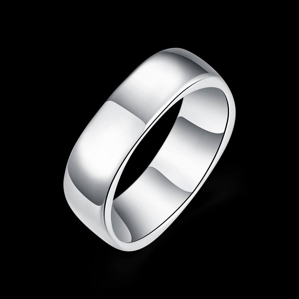 Wholesale 925 Sterling Silver Plated Fashion no-word Square rings Jewelrys LKNSPCR004