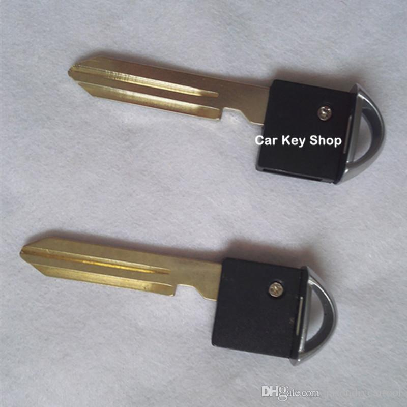 Uzaktan Akıllı Prox Acil Takın Fob Uncut Blade Eklemek Araba Anahtarı Bıçak Nissan Infiniti Için Mart Güneşli Tiida Akıllı anahtar bıçak