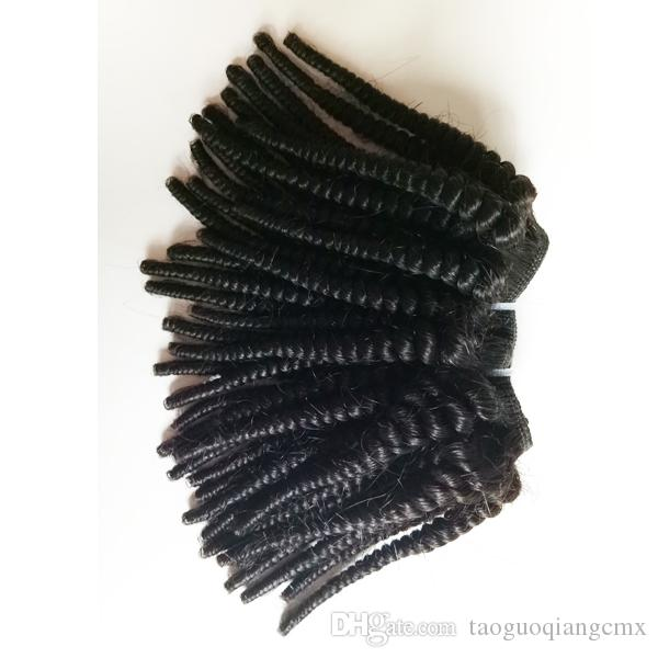 Black woman Brazilian Virgin hair Professional processing Afro Kinky Curly sexy Indian remy Hair For Sale Factory Price 50g/pc 300g