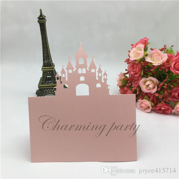 New Laser Cut Castle Damask Name Place Cards Table Cards Wedding Party Restaurant Banquet Invitation Cards Supplies