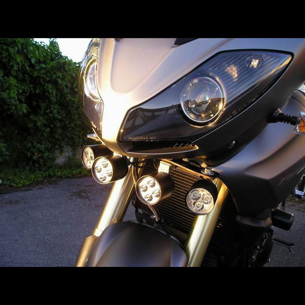 1 Paar Motorrad LED-Scheinwerfer 12V 80W 7200lm U2 LED Motorrad HI LO-Strahl-Scheinwerfer Moto-Spot-Kopf-Licht-Hilfslampe DRL