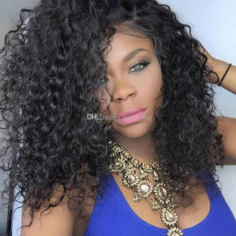 Top Quality Brazilian curly Human Hair Wigs Brazilian deep curly Lace Front Wigs Glueless Full Lace Wigs Bleached Knots