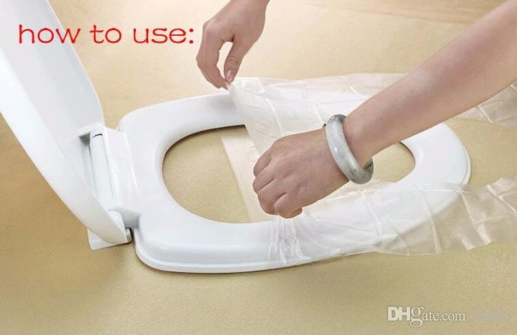 / caixa de plástico de segurança de viagem descartável tampa de assento do toalete à prova d 'água CleanningSafety Hatlth antiderrapante 40 * 48 cm