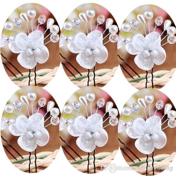 Wedding Bridal Bridesmaid Handmade Flower Pearl crystal Hair band Hairpin Headdress New Fashion High Quality Hair Jewelry Accessorie