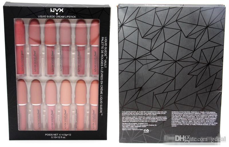NYX Suede Cream Lipstick Soft Matte Lipgloss Long Lasting Liquid Lipstick Lips Makeup by DHL Free