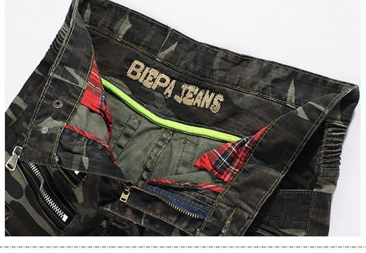 Jeans Hommes Distressed Ripped Skinny Slim Fit Designer long Denim Blue Camouflage Pantalons Hip Hop Pantalons Crayon pour Homme