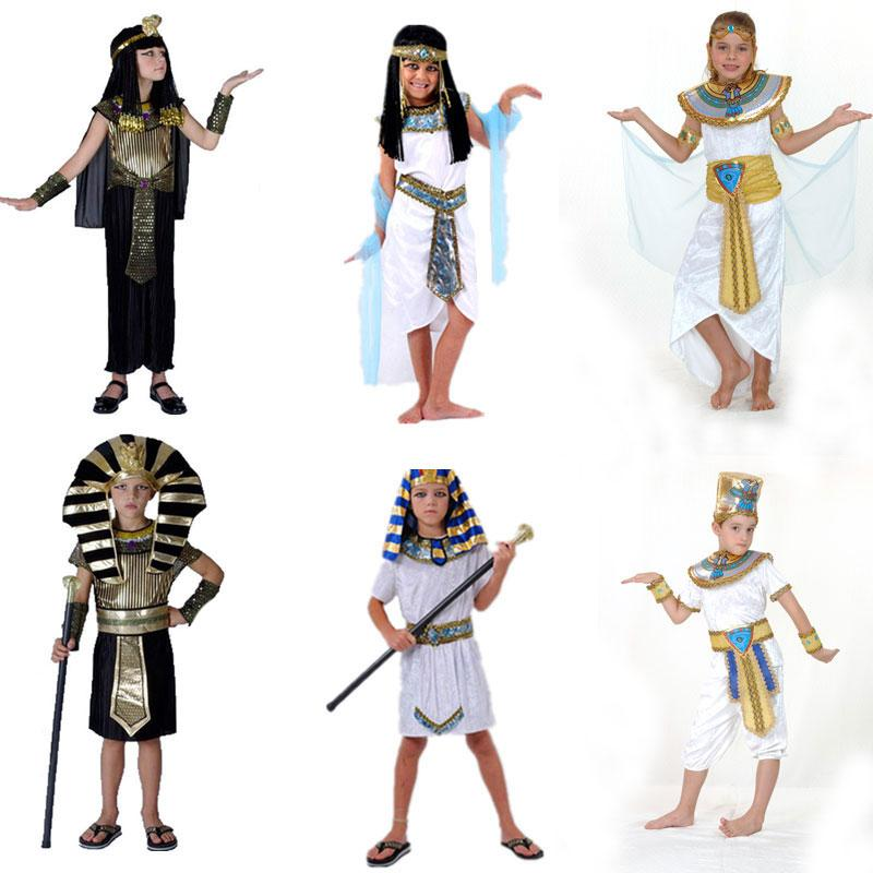 q228 halloween costumes boy girl ancient egypt egyptian pharaoh cleopatra prince princess costume for children kids cosplay clothing gypsy costumes horse - Egyptian Halloween Costumes For Kids