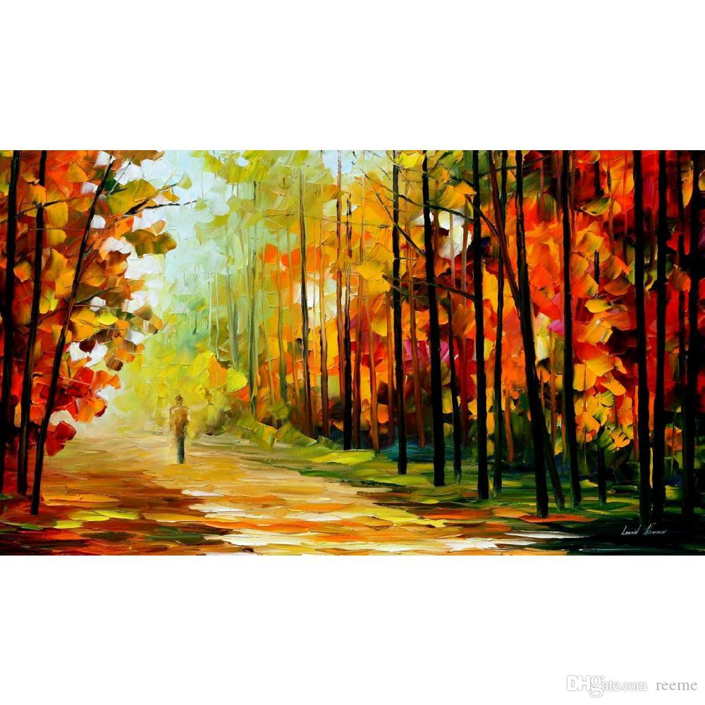2018 art gift painting leonid afremov the gold of nature hand