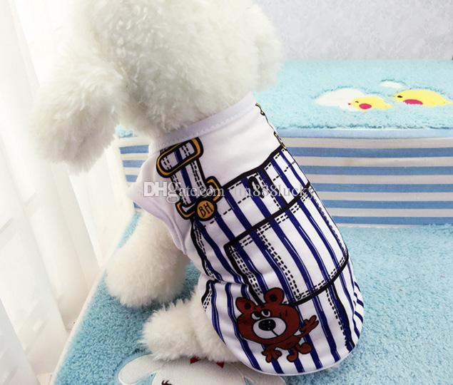 Pet dog apparel T Shirt shirts Dress Vest Summer Spring large dog clothes Pet Dogs Outfits Vest Rompers Teddy Clothes