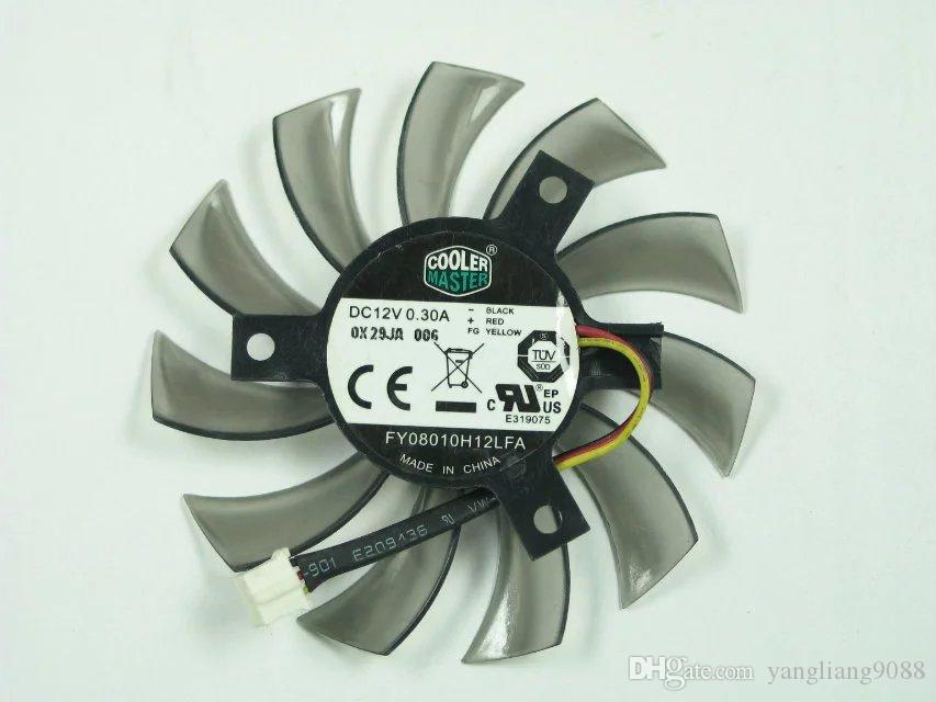 Free Shipping For COOLER MASTER FY08010H12LFA DC 12V 0 30A 3-wire 3-pin  Server Round fan