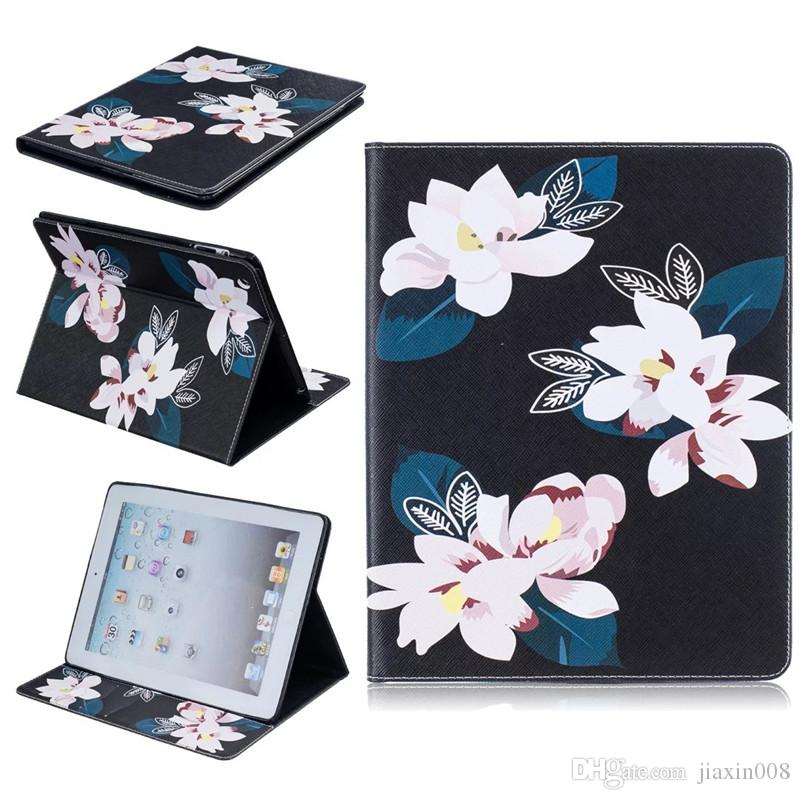 Tablet case para ipad 2 3 4 5 6 ipad mini 4 capa wallet stand case de couro com slots de cartão borboleta azul urso