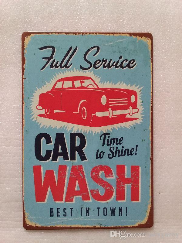 Full Service Car Wash Best in Town Vintage Rustic Home Decor Bar Pub Hotel Restaurant Coffee Shop home Decorative Metal Retro Tin Sign