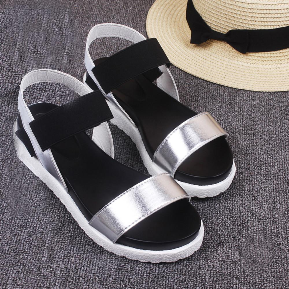 3b5e4603a Mokingtop Women S Summer Sandals Shoes Peep Toe Low Shoes Roman Sandals  Ladies Flip Flops Zapatos Mujer  LREW High Heel Shoes Wholesale Shoes From  Super05