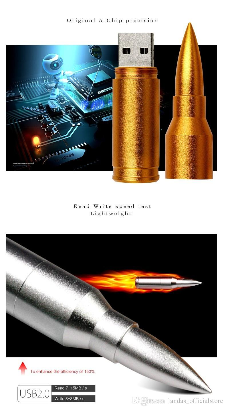 Hot sell Creative Bullet Pen Drive Novelty Usb Flash Drives 8gb 16gb 32gb 64gb Metal Usb Stick Mini Cooper Disk On Key for wholesales