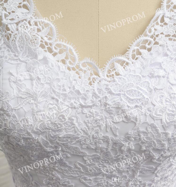 Elegante Branco Applique Sereia Vestidos Desgaste da Noite Com Decote Em V Oco de Volta Mangas Compridas Sweep Train Vestidos de Baile